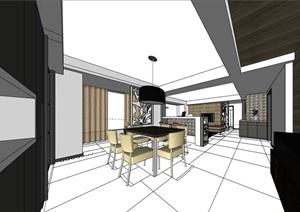 完整的住宅家装室内装饰SU(草图大师)模型