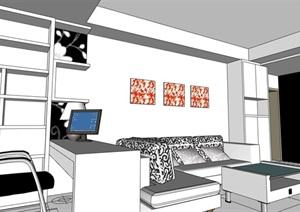 住宅家装室内装饰设计SU(草图大师)模型
