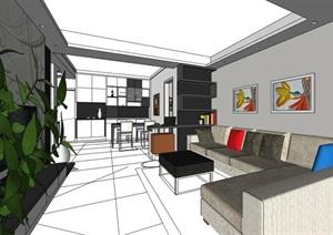 室内住宅家装室内装饰SU(草图大师)模型