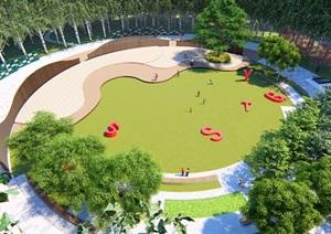 公园广场森林小剧场互动景观