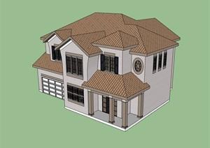 独栋两层开元棋牌APP下载完整的多层别墅SU(草图大师)模型