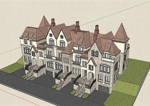 英式经典的别墅居住设计SU(草图大师)模型