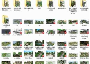 2小区景观规划草图大师SU模型、
