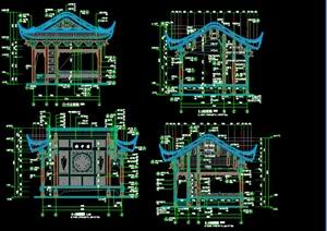 一层帯斗拱歇山戏台施工图