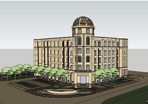 欧式经典的完整的酒店SU(草图大师)模型