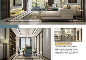 精致的详细完整住宅室内毕业设计psd展板