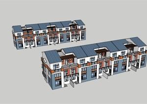 欧式风格独特居住详细的别墅设计SU(草图大师)模型