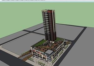 商业办公建筑楼设计SU(草图大师)模型