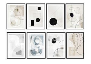 现代抽象装饰画挂画装饰摆件陈设SU(草图大师)模型