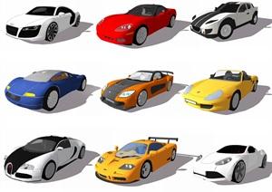 现代跑车小汽车儿童玩具车SU(草图大师)模型