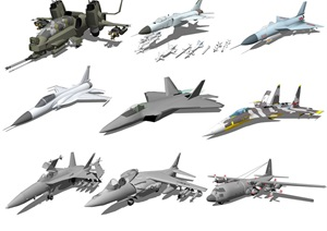 现代战斗机儿童玩具飞机SU(草图大师)模型