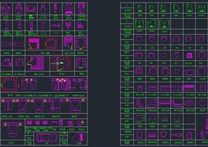 CAD工装图块(服装鞋包健身器材家具等)