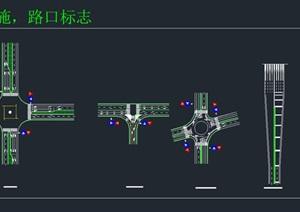 停车场图例和路口标志CAD图块大全