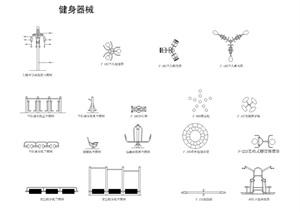 健身器材平面图cad,常用器材平面图CAD