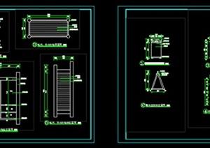指示牌cad、景观指示牌施工图cad、指示牌平立面CAD