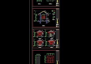 中式凉亭素材设计cad施工图