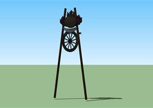 蒙古族特点景观装饰小品SU(草图大师)模型