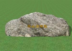泰山石SU(草图大师)模型,入口景石SU(草图大师)模型