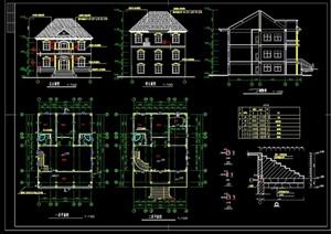某欧式风格详细的室内别墅设计cad施工图