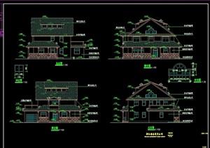 完整的详细居住别墅cad施工图