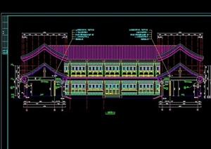 中国古建四合院完整建筑设计cad施工图