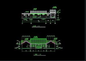 四合院住宅别墅建筑设计cad施工图