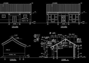 某经典的四合院别墅建筑设计cad施工图纸