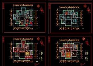 某详细的欧式居住别墅cad施工图