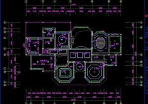 某独栋多层居住别墅室内cad施工图