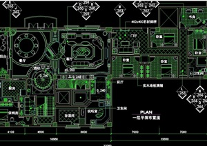 某独特的详细完整别墅室内设计cad施工图