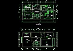 某室内完整别墅空间装饰cad施工图