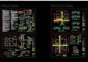 某完整别墅室内装饰空间cad施工图
