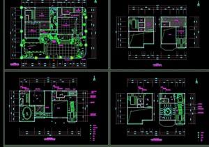 某现代风格完整别墅室内装饰cad施工图