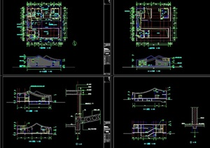 某详细的日式风格别墅设计cad施工图