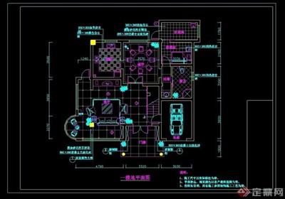 现代风格详细的别墅室内空间装设计cad施工图