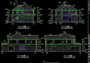 某欧式风格完整的居住别墅cad施工图