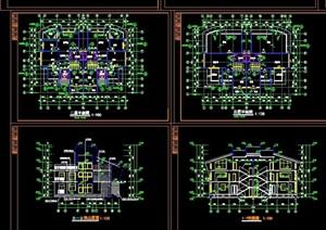 某欧式风格整体详细别墅cad施工图