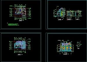 英式风格别墅三层独栋别墅建筑结构水电cad施工图