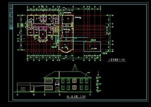 某景区别墅建筑结构cad方案图