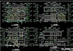 某别墅建筑完整结构cad施工图