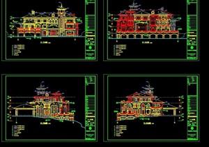 精致的欧式风格别墅住宅建筑cad施工图