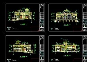 某完整的欧式别墅建筑cad施工图