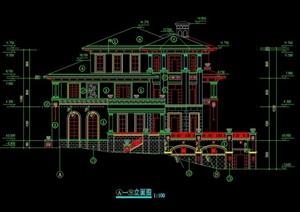 详细的整体独特别墅cad施工图