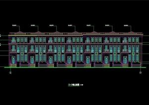 某现代风格住宅楼多层建筑设计cad施工图
