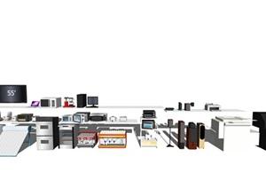 现代电器 冰箱SU(草图大师)模型