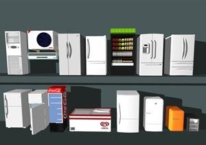 现代电器 冰箱SU(草图大师)模型2