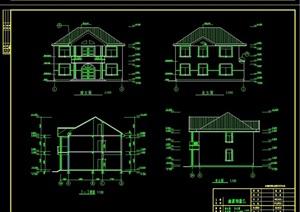 完整的详细多层居住别墅cad施工图