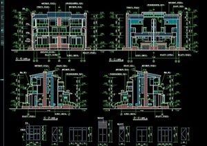 详细的欧式风格独特别墅cad施工图