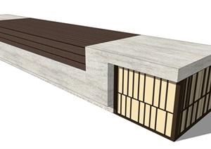 新中式带灯座凳详细设计SU(草图大师)模型