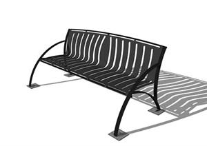 现代铁艺造型座椅详细设计SU(草图大师)模型